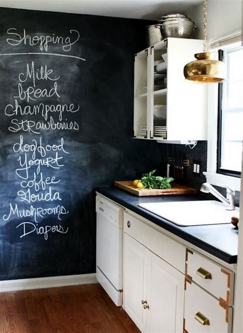 wall for kitchen ideas 9 cool kitchen designs with chalkboard wall https