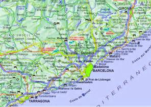 Map Of Barcelona Spain by Road Map Spain Images