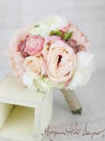 silk wedding bouquet morgann hill designs silk bridesmaid bouquet peony peonies roses ranunculus country wedding