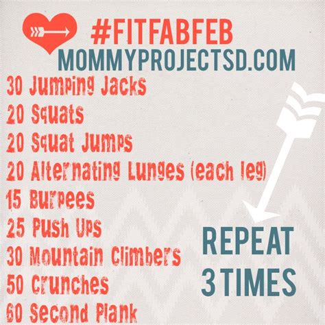 fitfabfeb workout 3 circuit at home the
