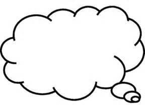 Thinking Outline by Cloud Thought Clipart Best