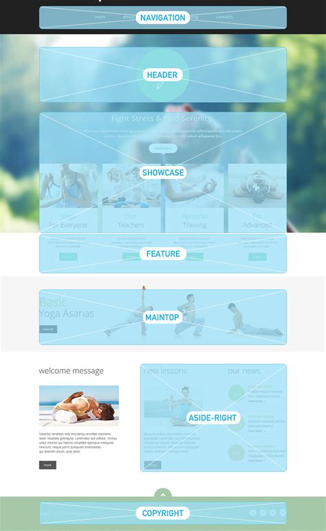 yoga club website template