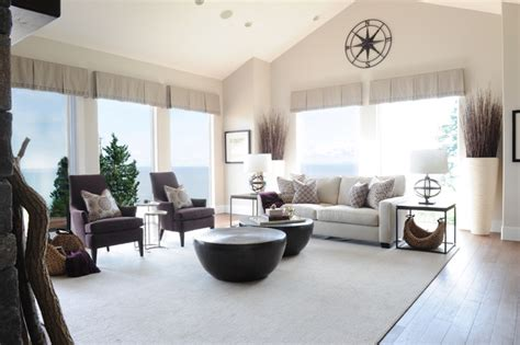 coastal views custom home style living room