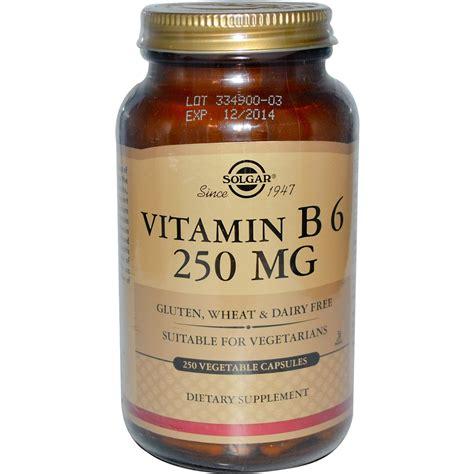 Vitamin B6 Solgar Vitamin B6 250 Mg 250 Veggie Caps Iherb