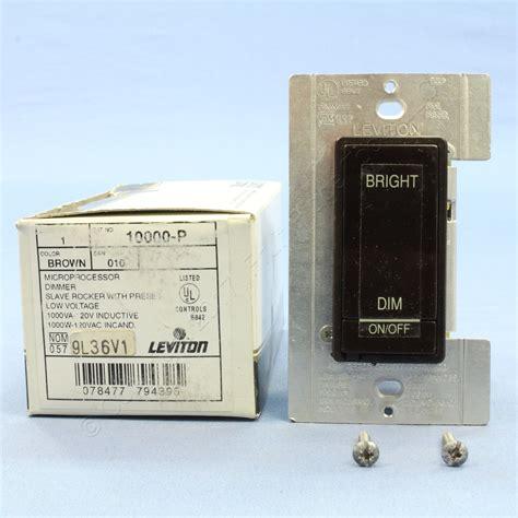 remote l dimmer leviton brown remote dimmer switch w preset microdim 10000