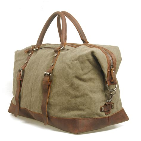 Handmade Canvas Bags - vintage handmade antique leather travel bag tote messenger
