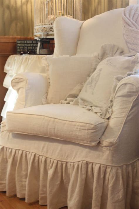shabby chic chair slipcovers 1000 images about shabby chic chair covers on