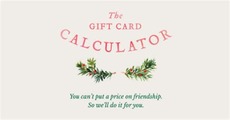 similarities between john st and r ga holiday calculators probably a coincidence - Gift Card Calculator