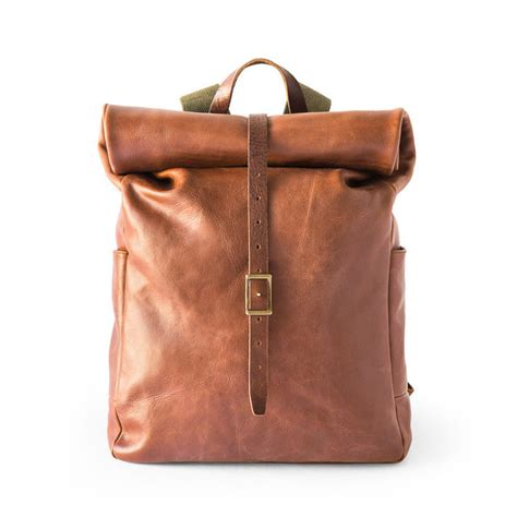 whipping post s leather roll top backpack cool