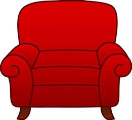 Velvet Armchairs Red Velvet Easy Chair On Clipart