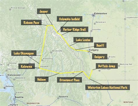 my itinerary for the canadian rockies the buses
