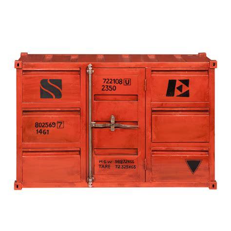 credenza rossa credenza rossa in metallo a forma di container l 134 cm