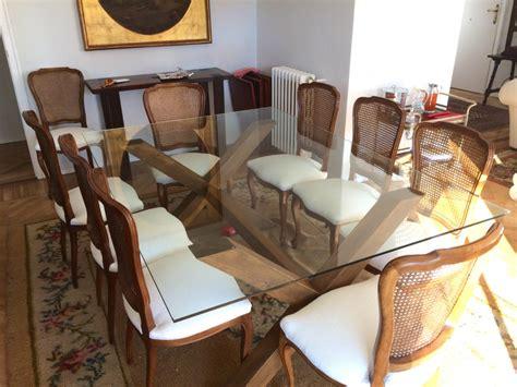 mesa comedor madera y cristal combina para triunfar mesas de madera y cristal