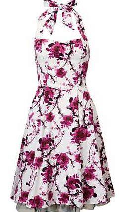 Soraya Tunic Maxidress Pink Halterneck Dress