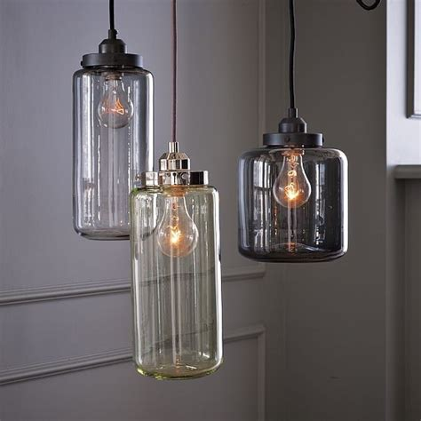 glass pendant kitchen lights glass jar pendants industrial pendant lighting by west elm