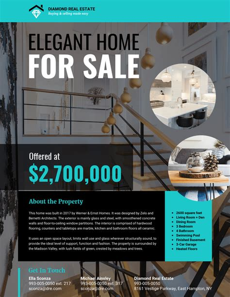 modern real estate flyer template venngage