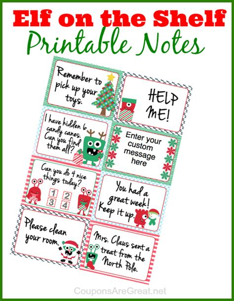 printable elf sick note elf on the shelf printable notes can use as lunchbox