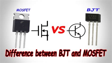 transistor o mosfet mosfet vs bjt difference between bjt and mosfet