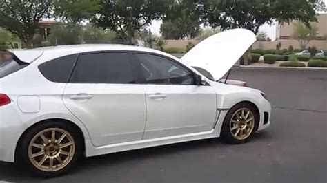white subaru hatchback 2009 subaru wrx sti hatchback white with low miles youtube