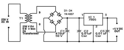 schematic diagram of regulated power supply diagram ingram 5v regulated power supply circuit diagram