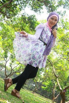 Bros Jumbo Creme Bunga jilbab gaya simpel hijaber jawa barat cara memakai jilbab