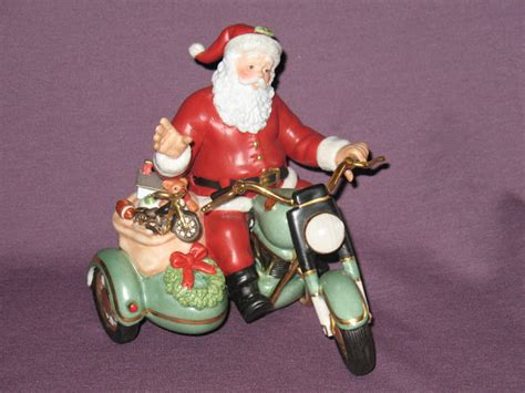 motoblogn santa rides a motorcycle christmas decorations