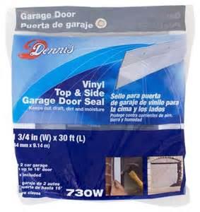 Garage Door Weather Stripping Menards by Wj Dennis White Vinyl Top Side Garage Door Seal