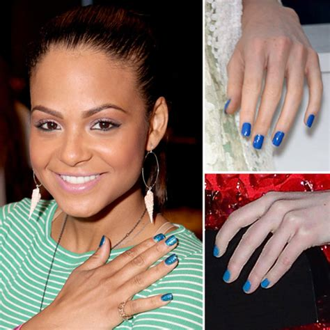 Blue Nails Trend 2008 by Blue Nail Popsugar