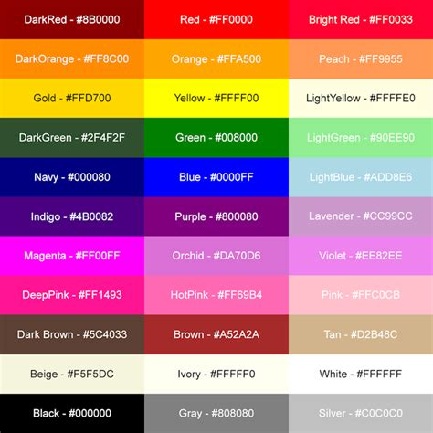 html color list girly business cards tips and tutorials girly