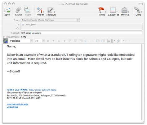Student Email Signature Template Business Student Email Signature Template