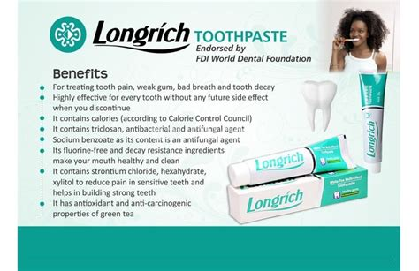 Longrich 290090 Toothpaste 100 G by Longrich Toothpaste Fluoride Free 100g East Legon