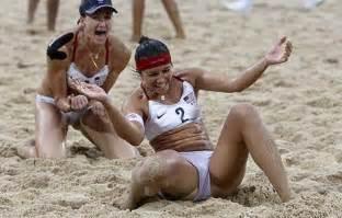 us triumph in beachvolleyball sports
