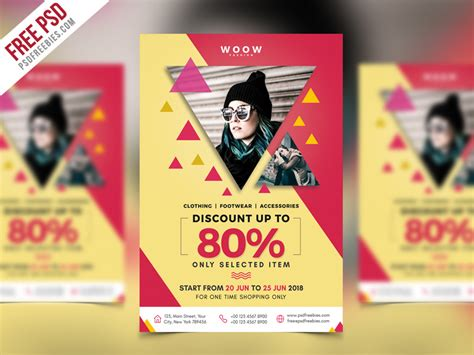 fashion flyers templates for free fashion sale promotion flyer psd template psdfreebies