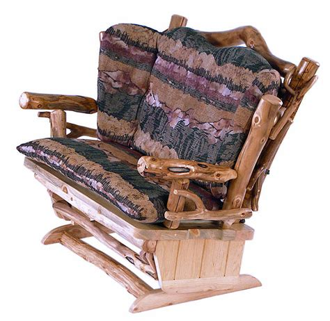 loveseat glider rocker aspen twig loveseat glider rocker aspen log mountain