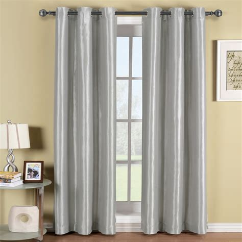 Sleek Light Grey Grommet Blackout Curtain For Living Room