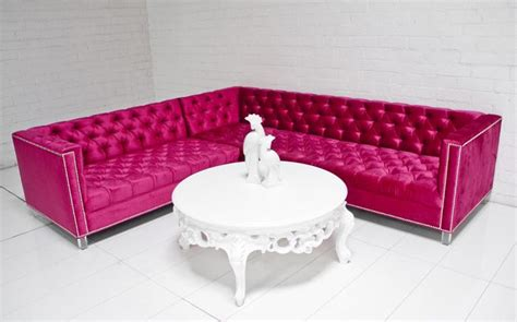 Pink Sectional by Www Roomservicestore Pink Sectional