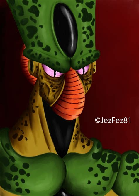 dbz cell imperfect more dbz pics http www imperfect cell fan art from dragonball z done in corel