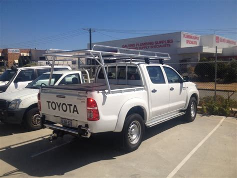 Roof Racks Toyota Hilux Dual Cab tradesman roof rack on dual cab toyota hilux archives