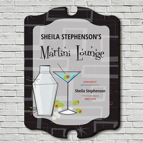martini lounge martini lounge personalized bar sign