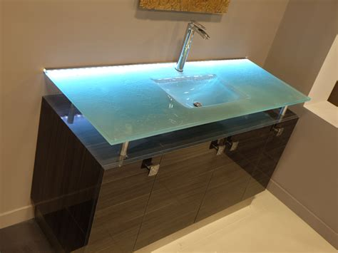 glass vanity top with integrated sink bathroom sinks bathrooms with personality cbd glass