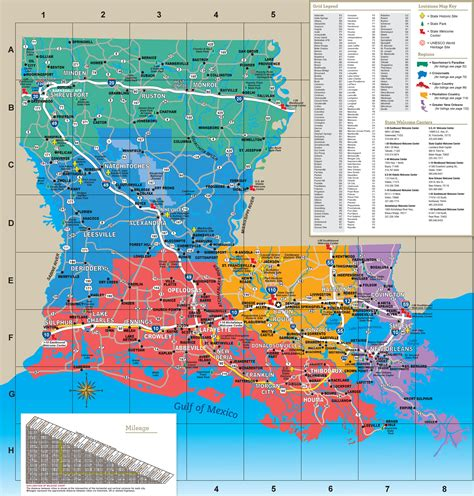 louisiana map usa maps update 21051488 la tourist map los angeles