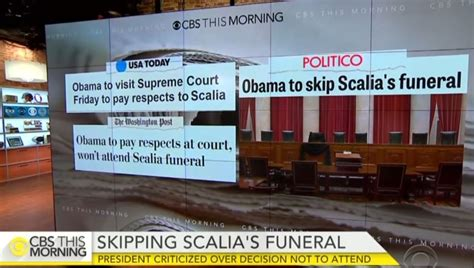 nbc abc ignore controversy obama skipping scalia funeral