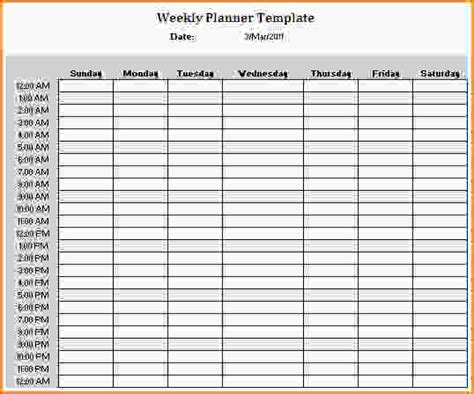 24 hour daily planner template pictures to pin on
