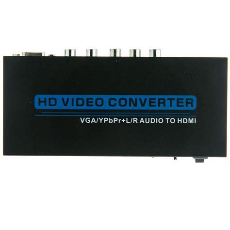 vgacomponent video rca stereo audio  hdmi converter