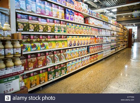 Organic Food Shelf by Organic Breakfast Cereal Boxes On The Shelves Of A