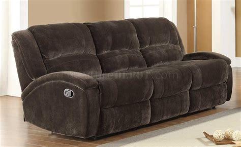 chocolate microfiber sofa 9714 alejandro motion sofa in chocolate microfiber