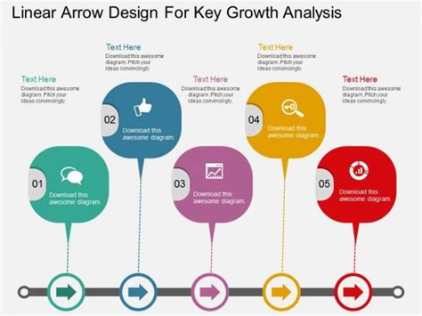 layout planning and analysis ppt linear arrow design for key growth analysis powerpoint