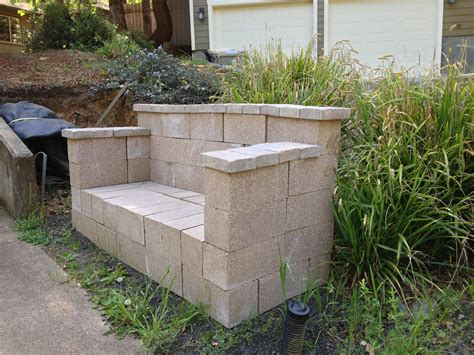 cinderblock bench cinder block bench home decor pinterest