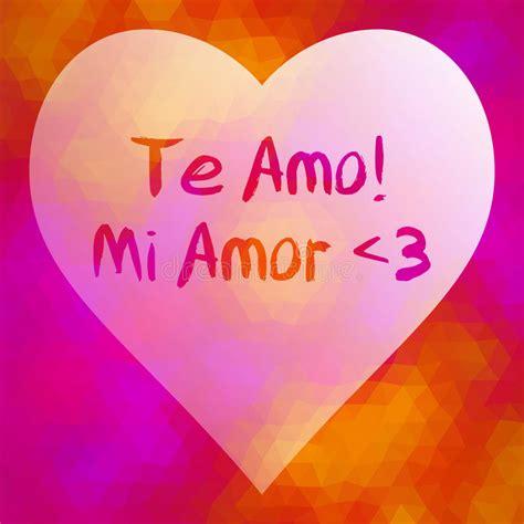 download lagu te amo mi amor frase te amo mi amor ilustraci 243 n del vector ilustraci 243 n
