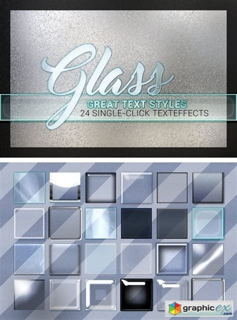 styles glass collection   vector stock